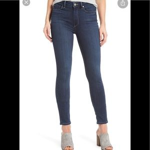 Paige Horton High Waisted Skinny Ankle Jeans